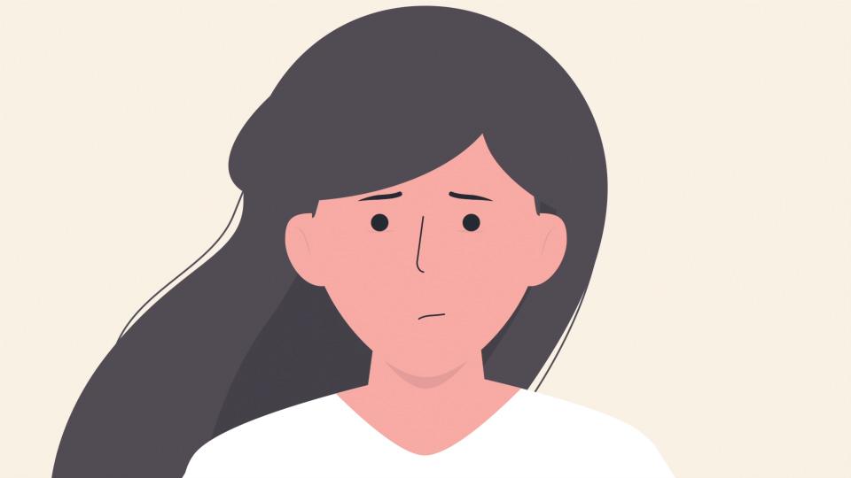 Girl feeling depressed